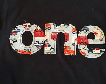 One birthday cars trucks transportation theme shirt, cars and trucks birthday shirt,  truck birthday boy, baby boy 1st birthday shirt