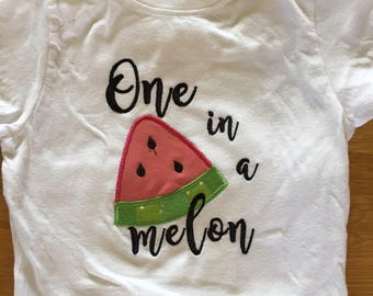 Girls one in a melon fruit shirt, Tutti Fruitti birthday, watermelon orange lemon lime theme picnic birthday theme, 1st birthday girl summer