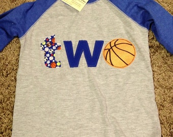 Basketball 1st, 2nd birthday shirt, sports themed birthday, one, two shirt