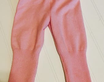 Girls pink sweater pants, girls leggings, cable knit pants, fall girls clothes, pink pants, sweater pants, toddler girls clothes  18m RTS