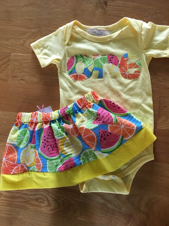 Girls birthday, One in a Melon, Tuitti Fruity 1st birthday, fruit theme picnic first birthday, one girls birthday shirt, watermelon, skirt