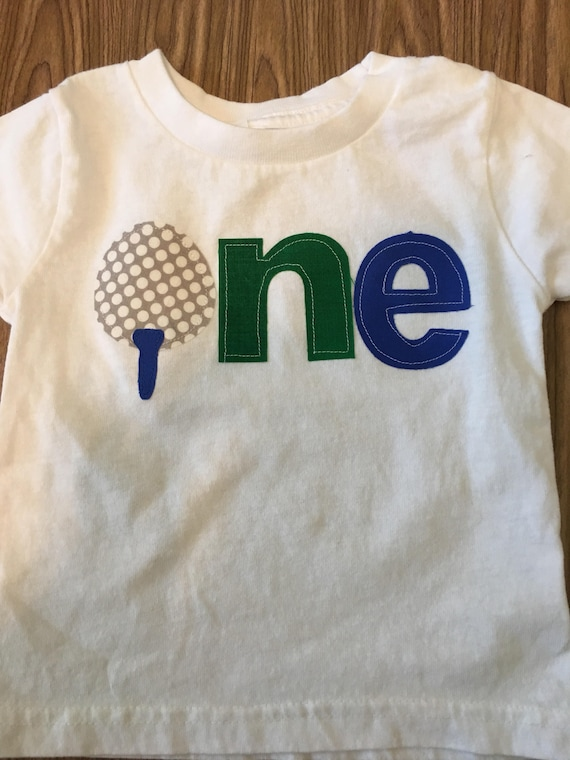 Golf Birthday Theme Shirt Baby Boy One Ball