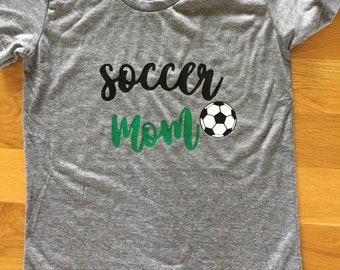 Soccer mom graphic t shirt adult shirt tank, soccer mom shirt, sports mom love shirt
