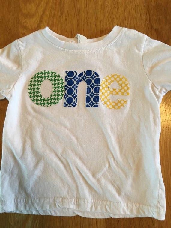 One birthday shirt circus primary colors polka dots, green, royal blue yellow, 1st birthday shirt, boys first birthday shirt, baby 1st birth