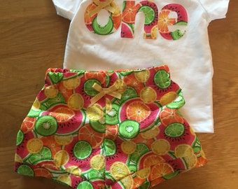 Girls birthday fruit shirt, Tutti Fruitti 1st birthday, fruit theme picnic first birthday, one girls birthday shirt, watermelon, oranges,