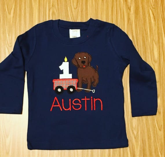 Puppy 1 2 3 birthday shirt, First second Birthday Shirt, puppy dog birthday shirt, embroidered, monogrammed, custom birthday shirt any color