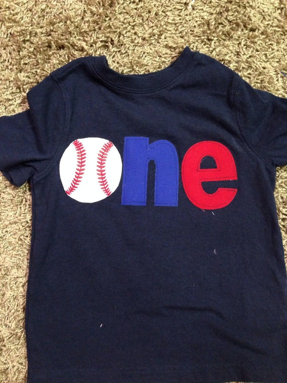 One Baseball Shirt 1st Birthday First Theme Sports
