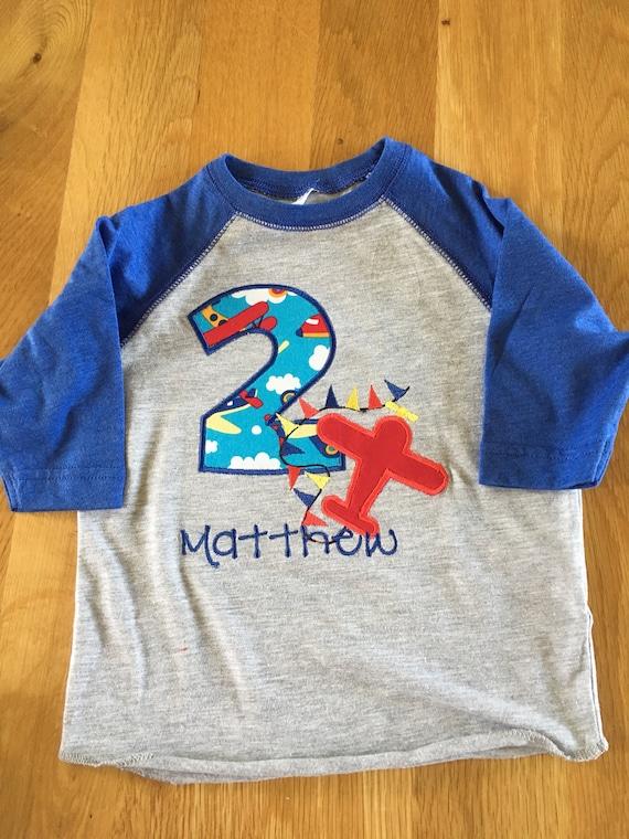 airplane birthday shirt, 1 2 3 4 5 Birthday Shirt, any colors Birthday shirt, plane shirt, monogrammed personalize raglan red blue yellow