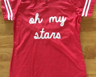 Oh my stars shirt womens kids family shirt, 4th of july womens shirt, Independence Day clothes, red white and blue shirt