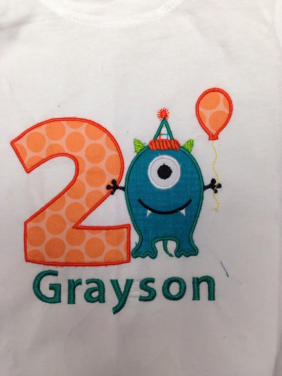 Boys 1 2 3 4 Monster birthday shirt, monster birthday shirt, first birthday monster t shirt, Monster birthday, 1 2 3 4 5 any number