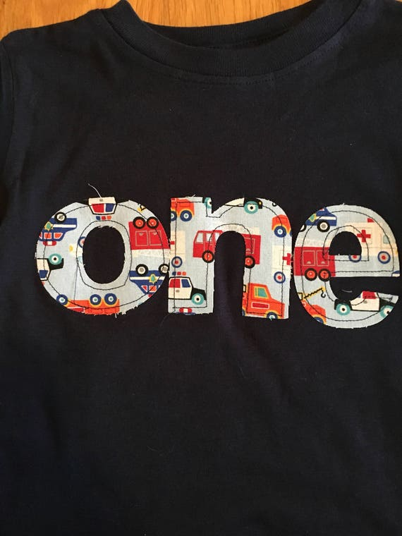 One birthday cars trucks transportation theme shirt, cars and trucks birthday shirt,  truck birthday boy, baby boy 1st birthday shirt