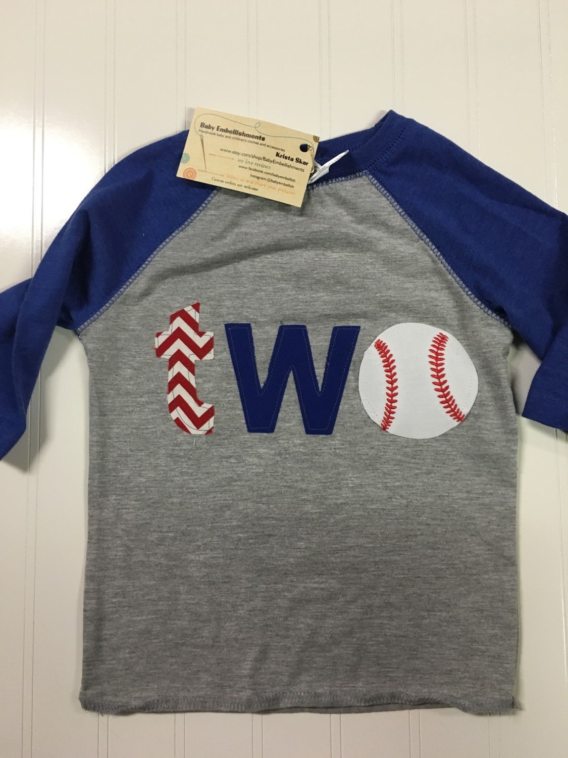 Boys 2nd Birthday Shirt Two Baseball Royal Blue First Theme TWO Reglan