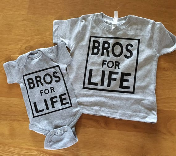 Bros for Life new brother graphic shirt Big bro shirt big brothrt new baby sibling shirt little bro shirt brother shirts Bro life shirt