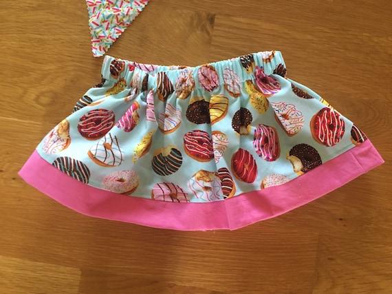 girls donut skirt, donut birthday party, donut say outfit, birthday donut shirt, sprinkles pink, 1 2 3 4 donut birthday, party wear