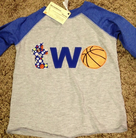 Basketball 1st, 2nd birthday shirt, sports themed birthday, one, two shirt boys sports theme birthday raglan