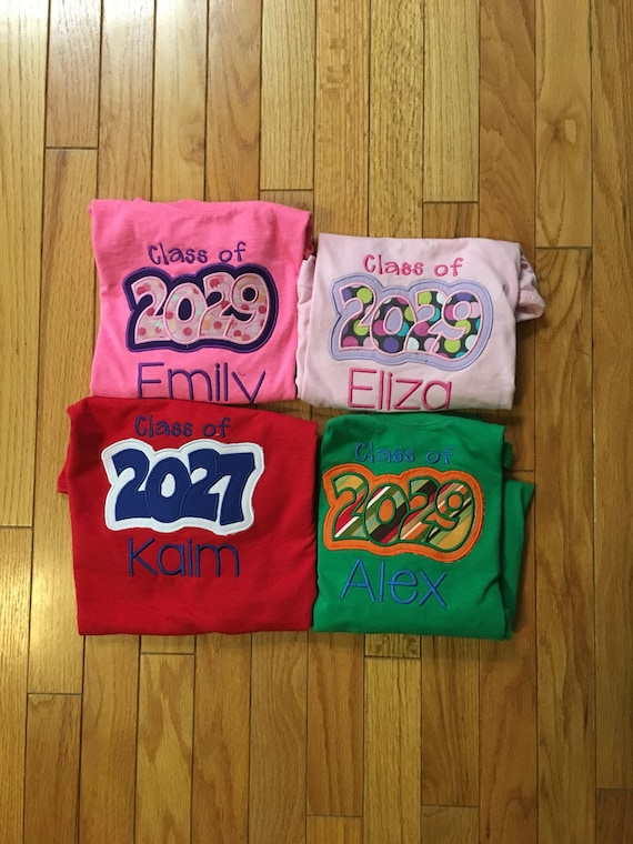 Yearly school year graduation class of shirts for pictures, first day of school shirt, class of shirts, oversized class of kindergarten