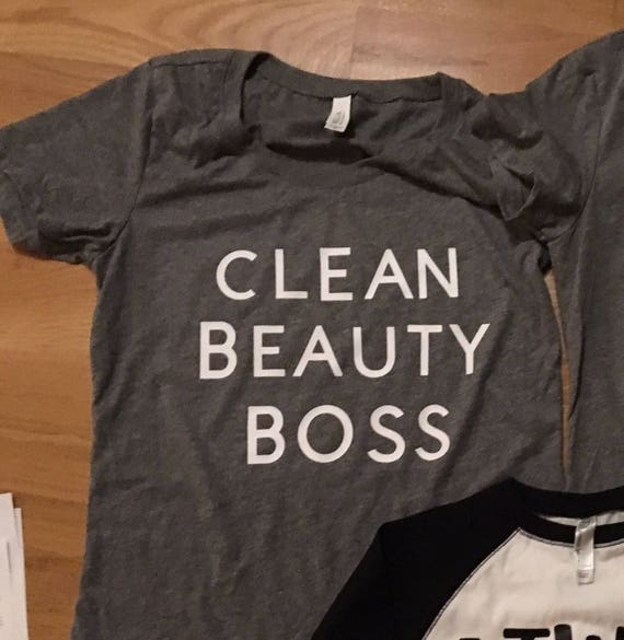 Clean Beauty Boss graphic tshirt, mom clothes, womens t shirt, BeautyCounter rep shirt