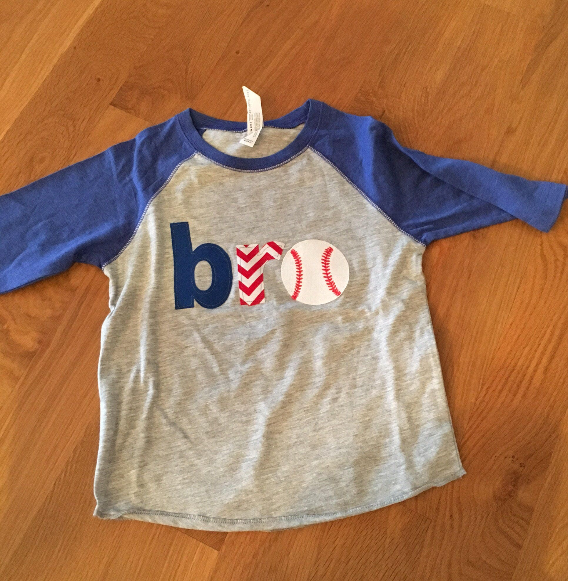 Brother Baseball Shirt Sibling Birthday Bro Raglan Party