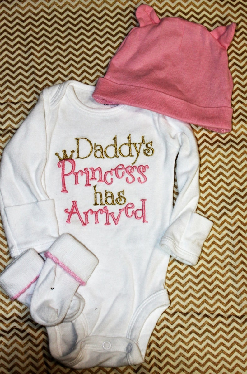 448087638 Baby Girl Clothes Daddy's Princess has Arrived embroidered   Etsy