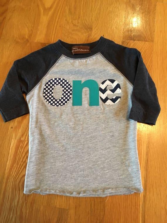 One birthday raglan shirt navy teal colors, baby boy first birthday shirt navy blue raglan. navy teal party colors, baby raglan, 1st birthda