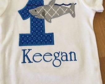 shark birthday shirt, jawsome shark 1st birthday, shark week shirt, shark bite birthday, great white shark, 1 2 3 4 5 any number, monogram