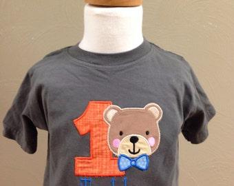 Boys 1st birthday shirt, teddy bear shirt, first birthday teddy bear t shirt, boys clothes