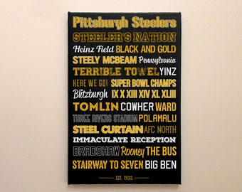 c0798327fff Pittsburgh Steelers - Canvas or Poster