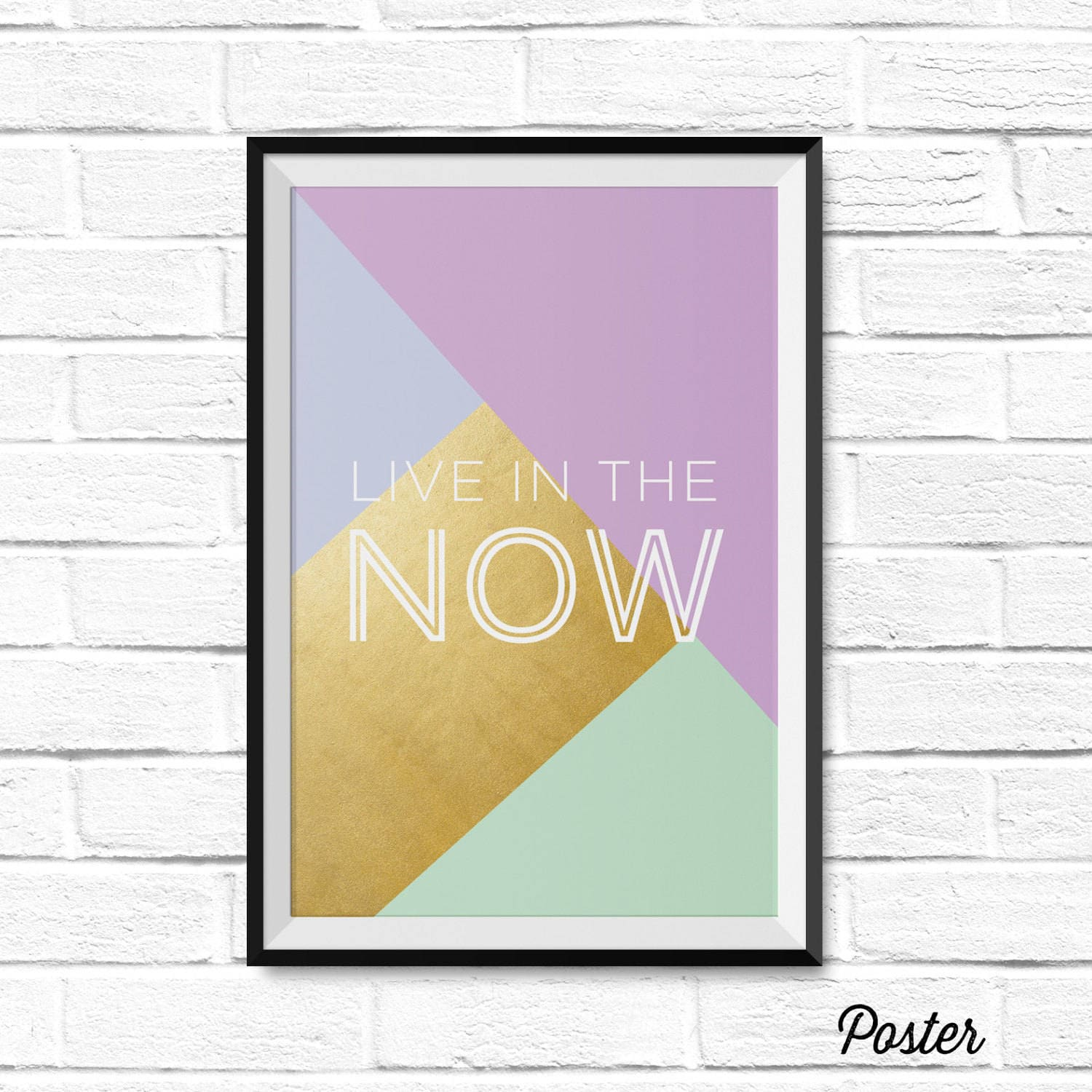 Live in the Now Canvas or Poster Quote Home Decor | Etsy