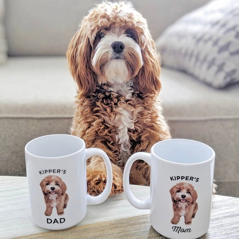 Dog Mug Personalized with your dog's photo and name Full Body