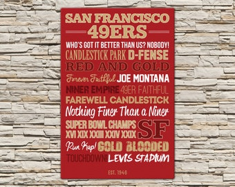 San Francisco 49ers - Canvas or Poster