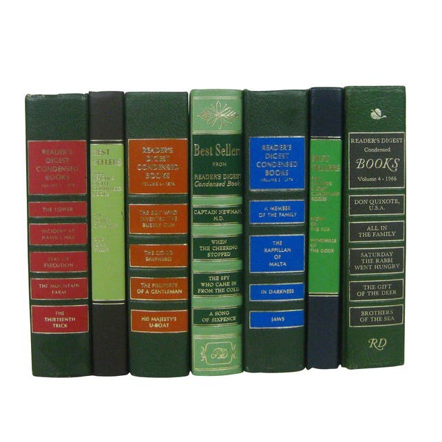Vintage 1970s Readers Digest Best Loved Books For Young Set Of 7 BooksDecorative Hardcover Bookshelf FillersGreen Book Collection
