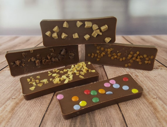 Small luxury studded chocolate bar, pack of 3