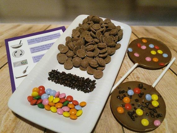 Chocolate making kit - chocolate lollipops