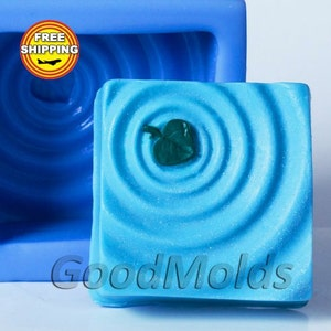 The Leaf on the Water Mold Soap Mold Silicone Molds Mold for Soap Mold Flower Mold Silicone Mold Flora Mold Mold Free Shipping