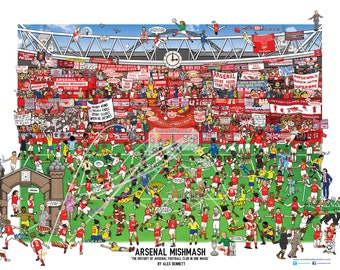 Arsenal Mishmash - The History of Arsenal Football Club in One Image