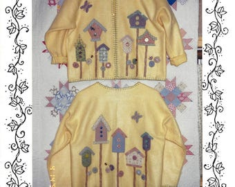 Fred Gingerbread Sweatjacket Pattern FG 501 from Bobbette/'s Country Treasures Applique and Embroidery  Instructions  NEW PATTERN