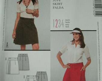 91af14166ca Misses Skirt Sizes 10-12-14-16-18-20-22 BURDA Style Pattern 7345 Rated EASY  NEW No Date Given