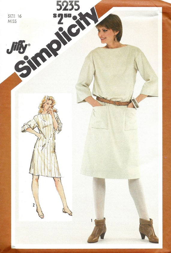 Tunic and Pants Sizes 4-26 XXS-XXL Simplicity Pattern 1810 Misses Pullover Dress