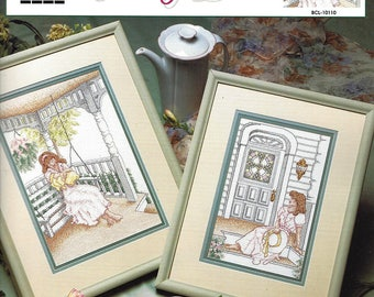 True Colors Cross Stitch pattern BCL-10110 - Swing Time Country Porch - Designed by Sharon Sutherland Pope - 2 Projects MINT Condition
