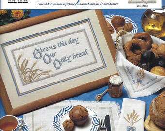 True Colors Cross Stitch Pattern BCL-10107 - Our Daily Bread - Multiple Projects Designed by Phyllis Taylor - MINT Condition