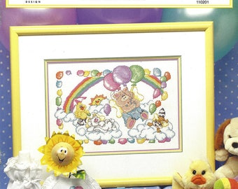 True Colors Cross Stitch Pattern 110201 - BABY ANIMALS - Multiple Projects for Baby Room - Full Material List & Instructions  Mint Condition