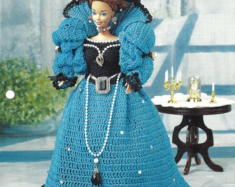 Elizabeth Anne Barbie Crochet Pattern from Annie's Fashion Doll Crochet Club NEW Pattern Designed for Annie's by Beverly Mewhorter