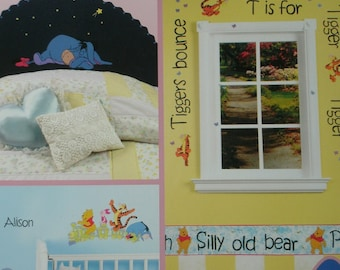 Disney Winnie the Pooh Paint Your Room - 5 Easy Projects - Step by Step Instructions - Hot Off the Press #2224 14 Large Images.