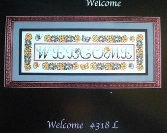 "Sandi Phipps Leaflet 318 ""Welcome"" Cross Stitch Leaflet [2001]"