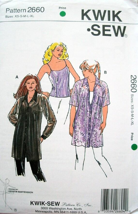 Kwik coser patrón señoritas 2660 camisola y túnicas con   Etsy
