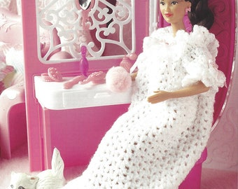Annie's Fashion Doll Crochet Club Crochet Pattern for Barbie Nightgown - SWEET DREAMS - New Pattern Designed by Judy Blok
