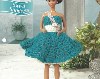 Annie's Fashion Doll Crochet Club Pattern for Barbie - SWEET SUNDRESS - Designed by Mary E. Layfield - New Pattern