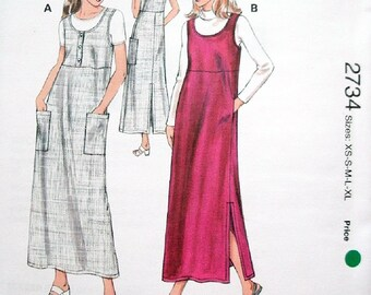 Kwik Sew Pattern 2734 Misses Jumpers with Variations Size Xs-Xl Bust 31 1/2-45 Designed for Woven and Knit Fabrics FACTORY SEALED Pattern