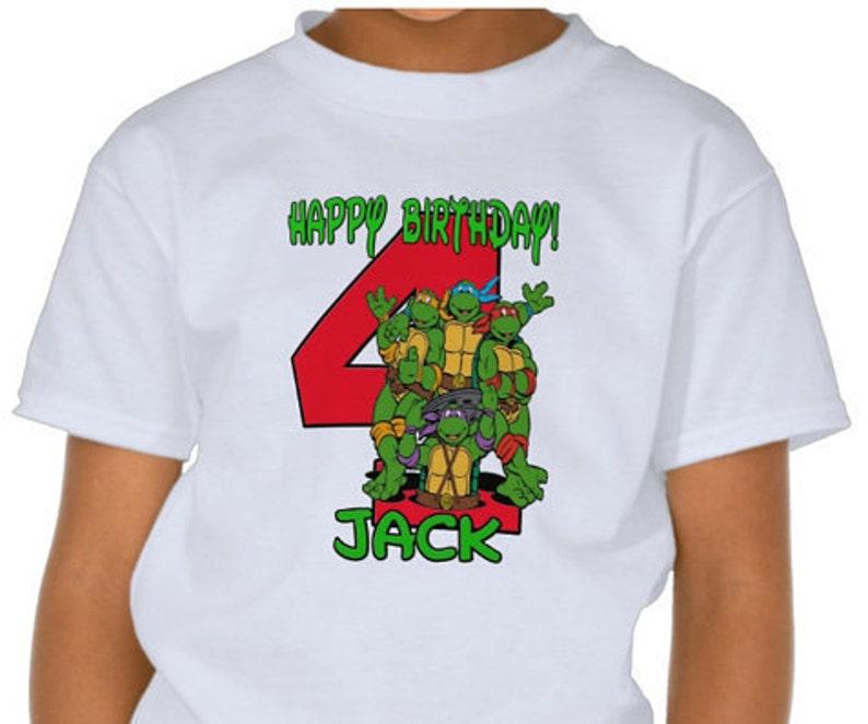 638d89aa43 Adolescentes mutantes Ninja tortugas cumpleaños camisa