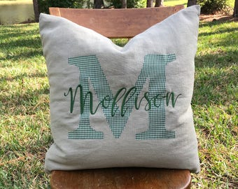 Personalized Pillow Cover - Last Name